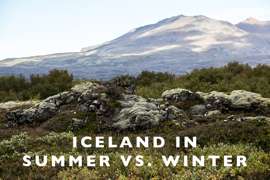 Iceland in summer vs. winter