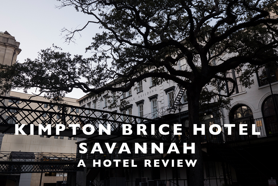 Kimpton Brice hotel savannah hotel review