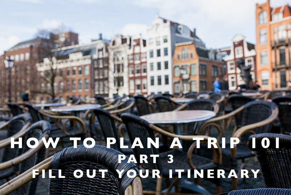 how to plan a trip itinerary