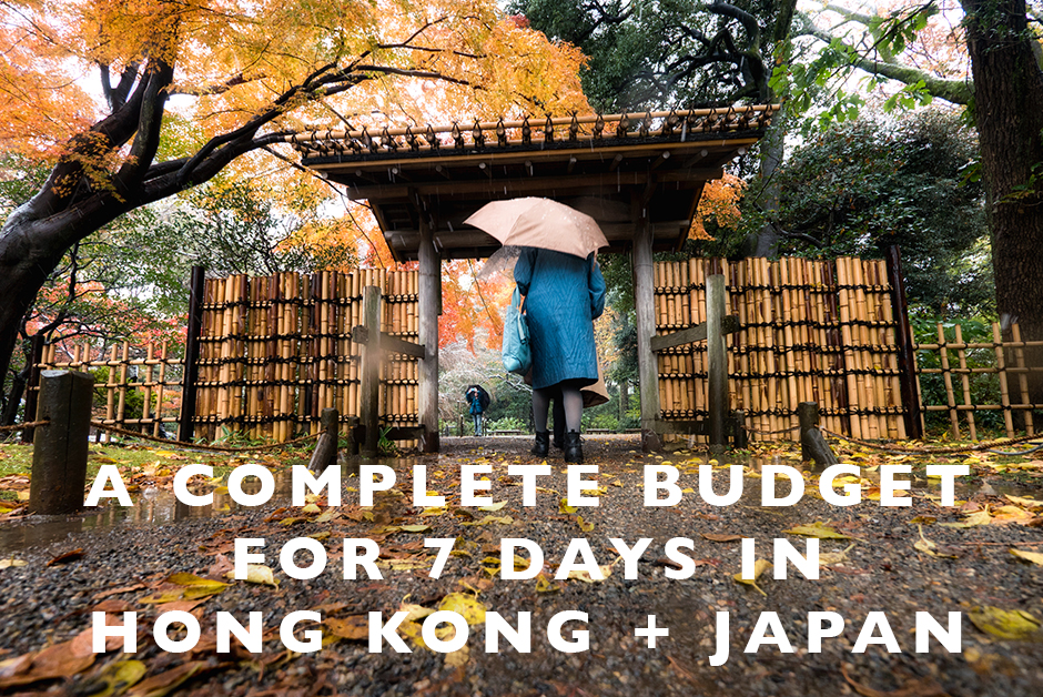 complete budget for 7 days in Hong Kong and Japan