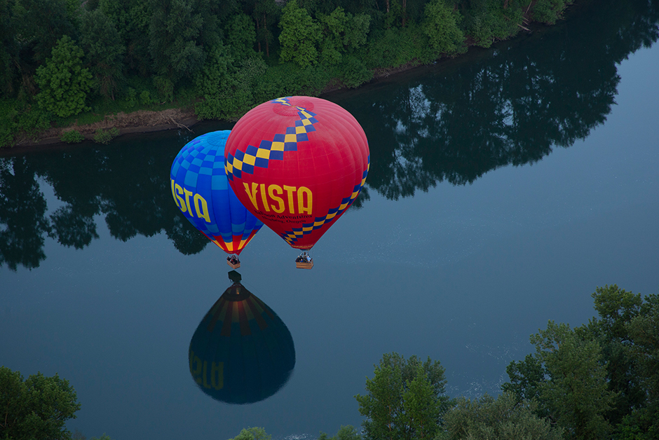 hot air ballon ride in Newberg Oregon with Vista Balloon