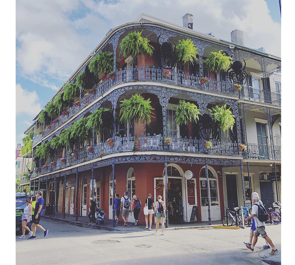 exploring New Orleans french quarter