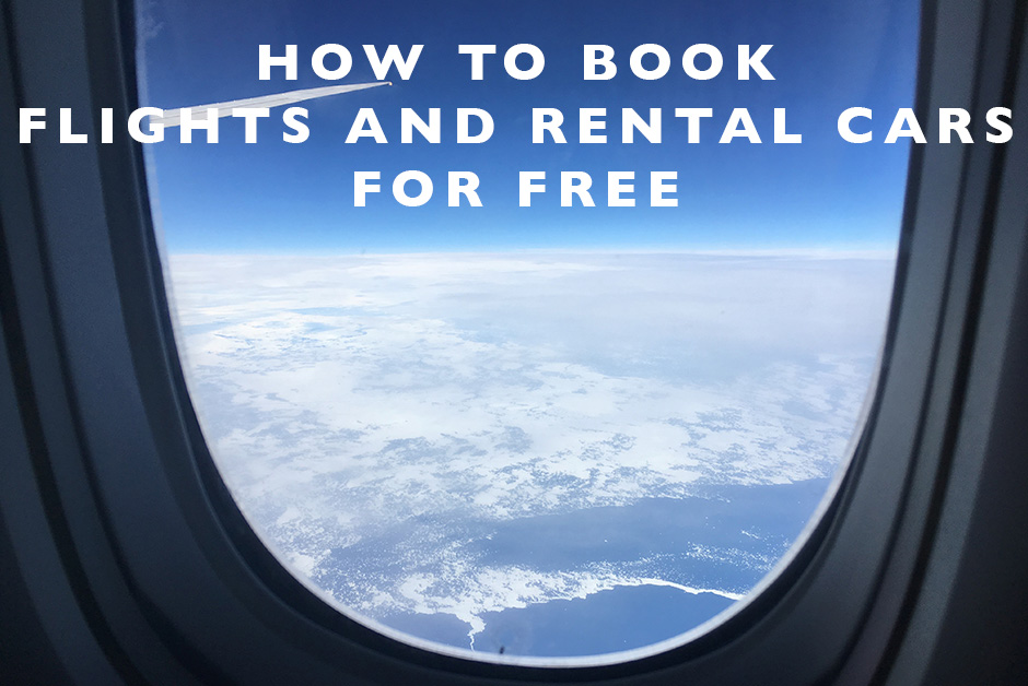 book flights and rental cars for free