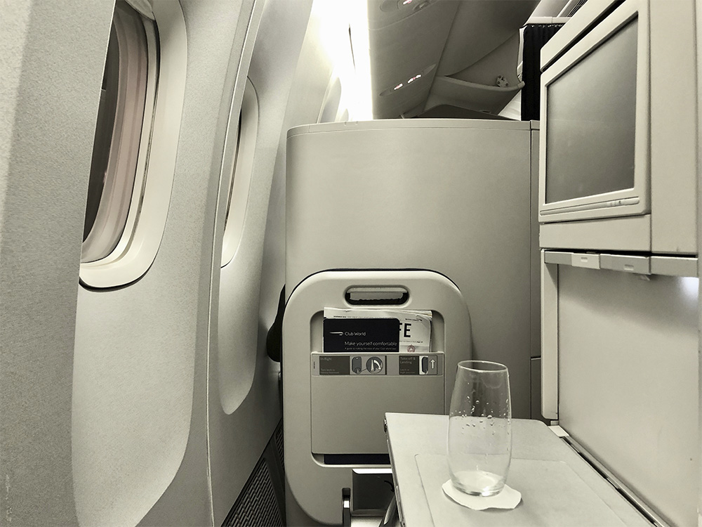 flying business with British Airways flight review