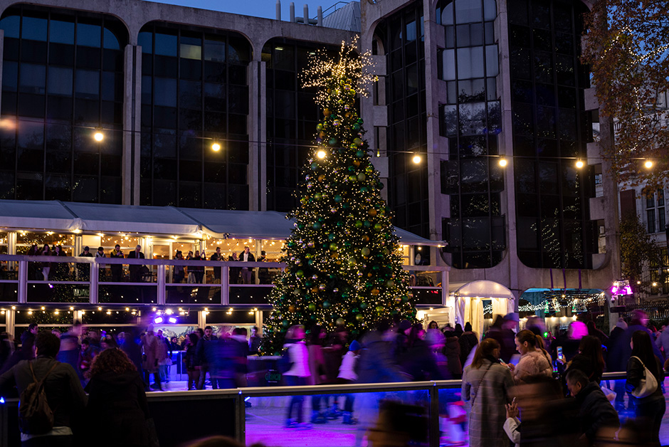 Christmas in London ice rink