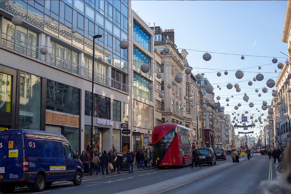Christmas in London Oxford Street