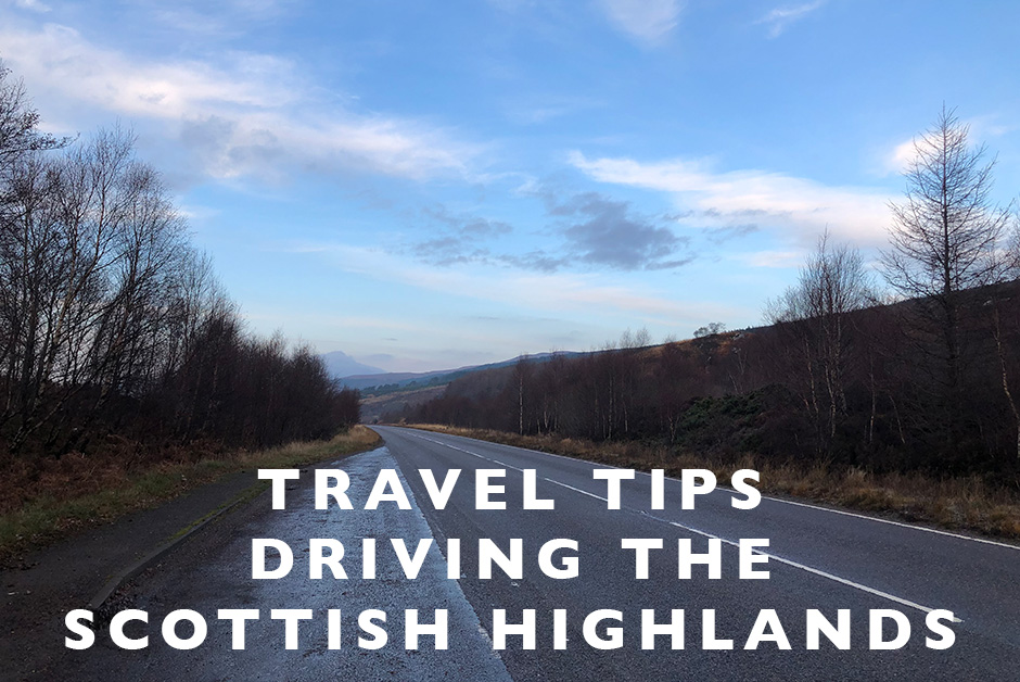 driving the Scottish highlands