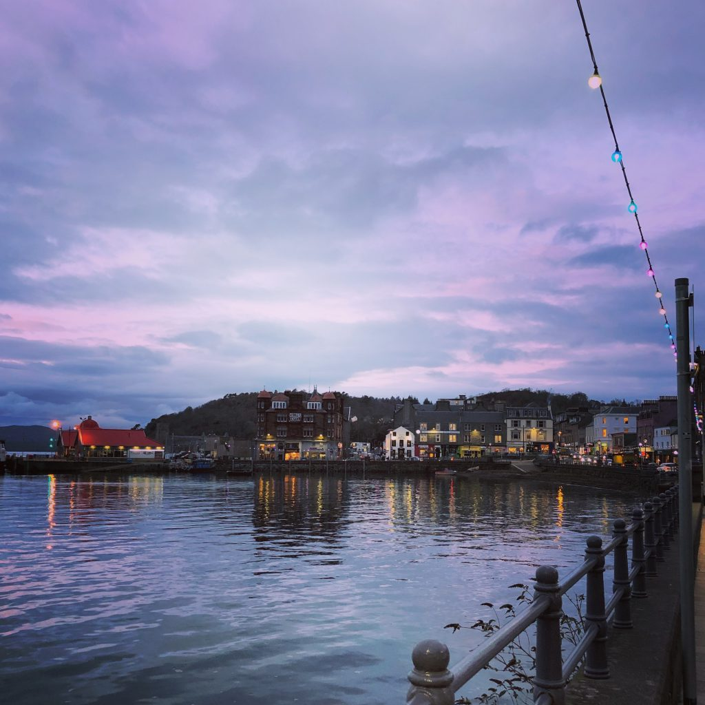 Oban scotland sunset