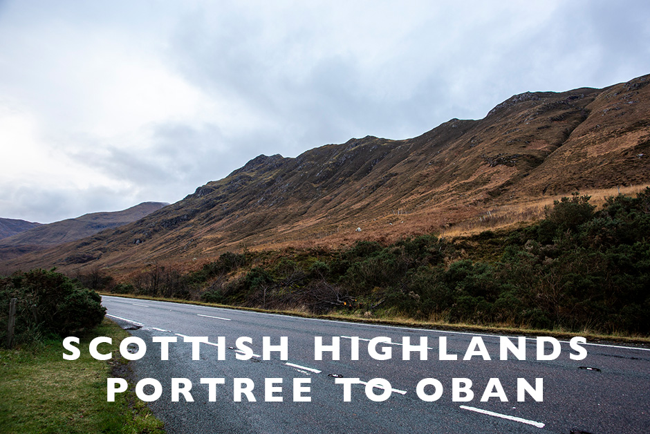 Scottish highlands Portree to Oban