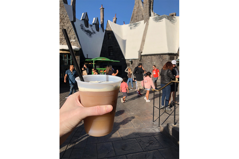 butterbeer at Wizarding World of Harry Potter in Los Angeles