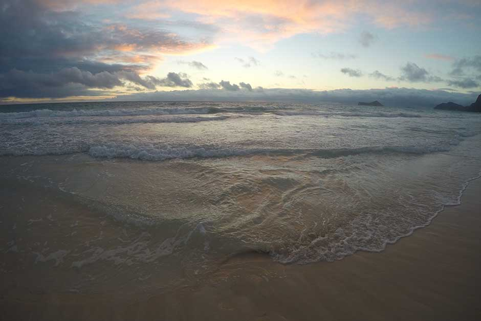 explore at sunrise when traveling Hawaii beach