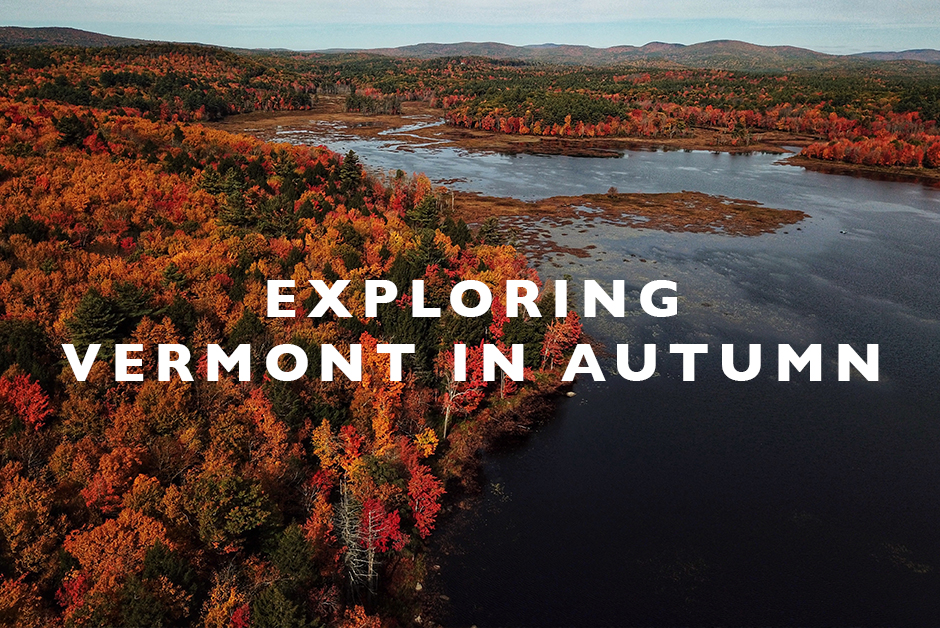 exploring Vermont in autumn