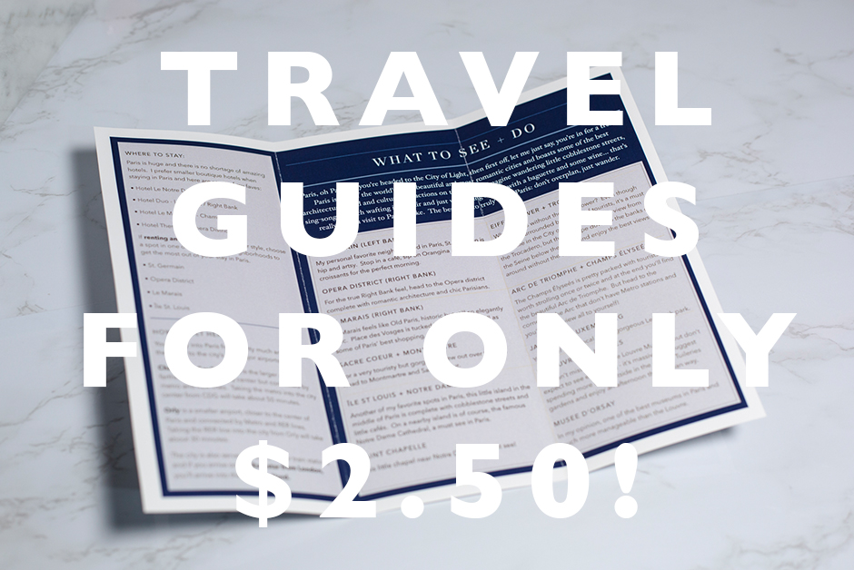 travel guides for $2.50