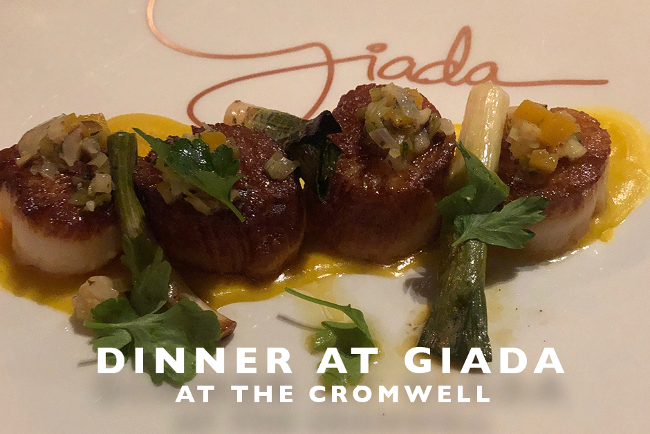 dinner at Giada at the Cromwell Las Vegas food