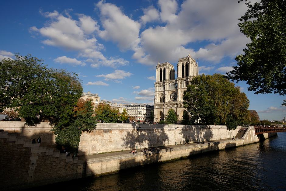 exterior of notre dame cathedral