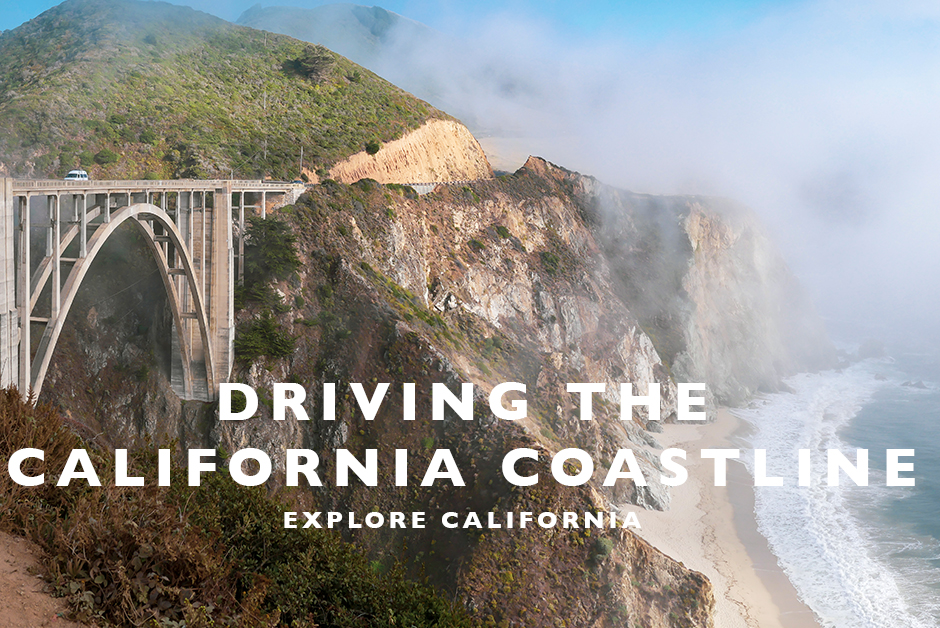 driving the california coastline