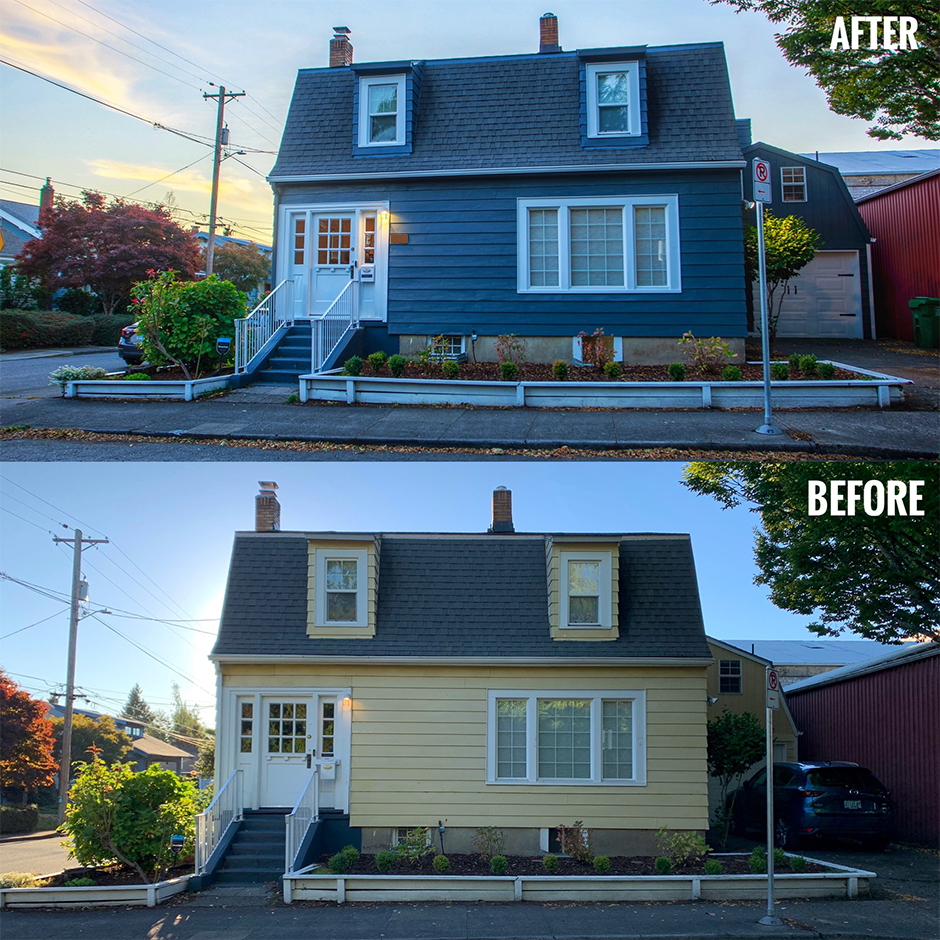 before and after house exterior makeover