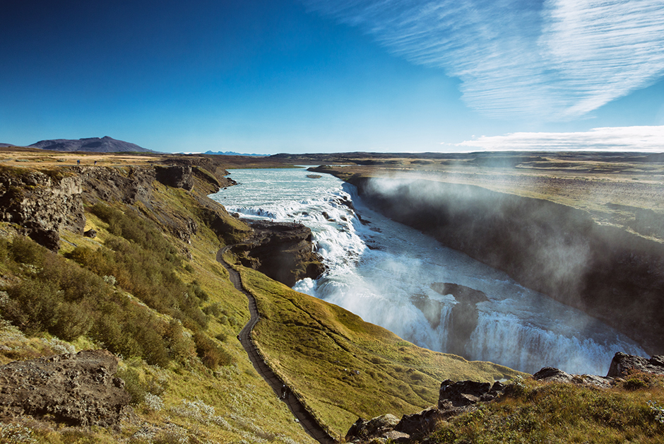 Gullfoss Waterfall without the crowds