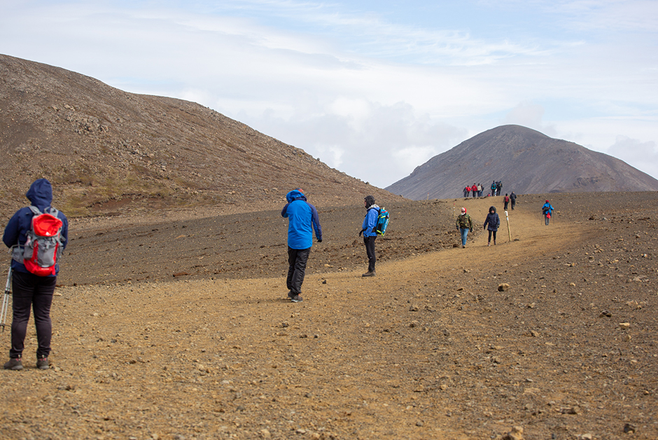 hike to the Fagradalsfjall volcano in iceland