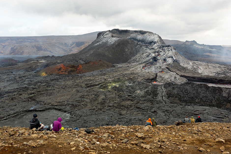 visiting the Fagradalsfjall volcano in iceland