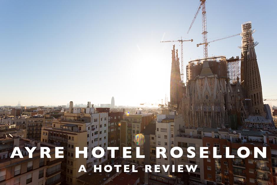 ayre hotel rosellon Barcelona near Sagrada Familia