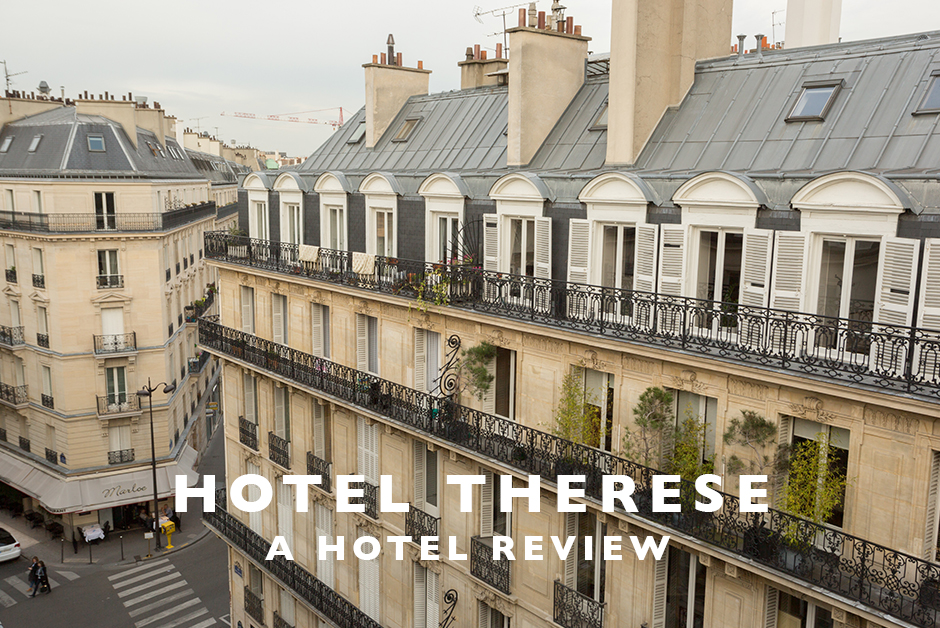 hotel therese Paris France hotel review