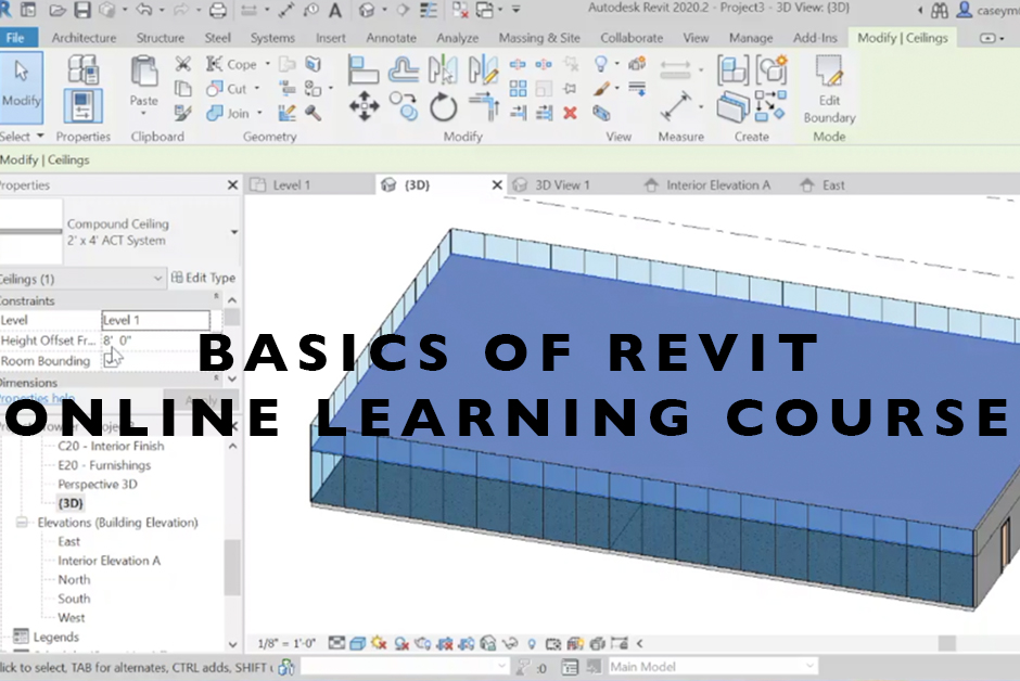 Basics of Revit online learning course
